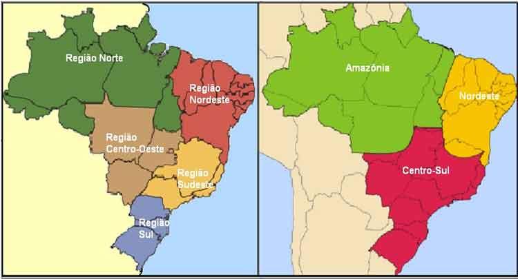 Regionalizações brasileiras