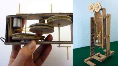 Foto de Como fazer um robô simples feito com papelão e motorzinho