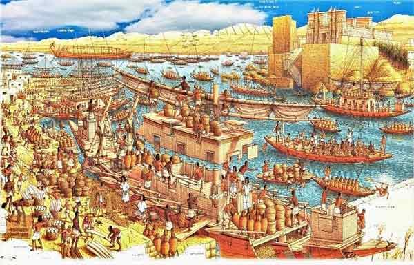 Cultura e comércio no Egito Antigo