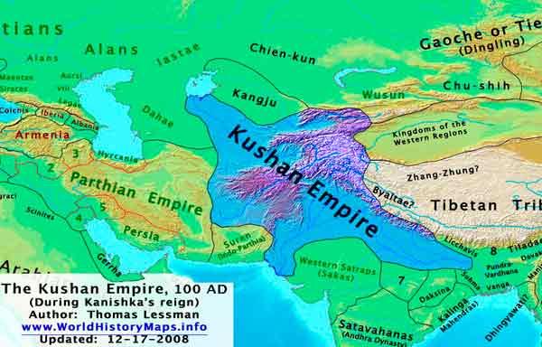 Império Kushan - Expansão e Declínio