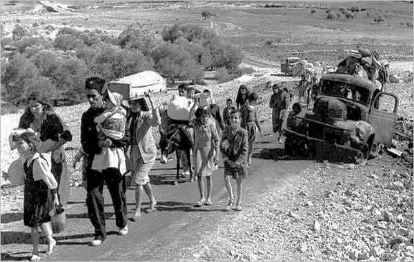 Refugiados Palestinos - Êxodo palestino de 1948